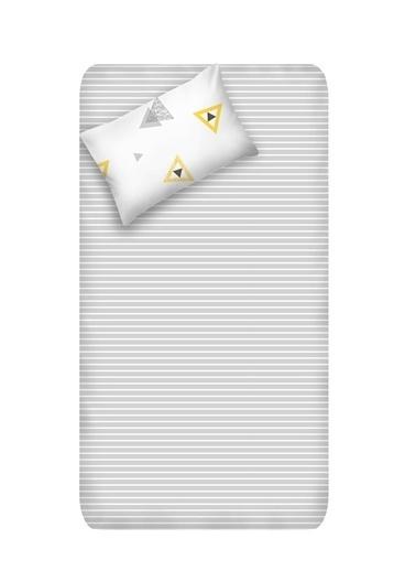 EnLora Home Enlora %100 Doğal Pamuk Çarşaf+Yastık Seti Tek Kişilik Erois  Beyaz